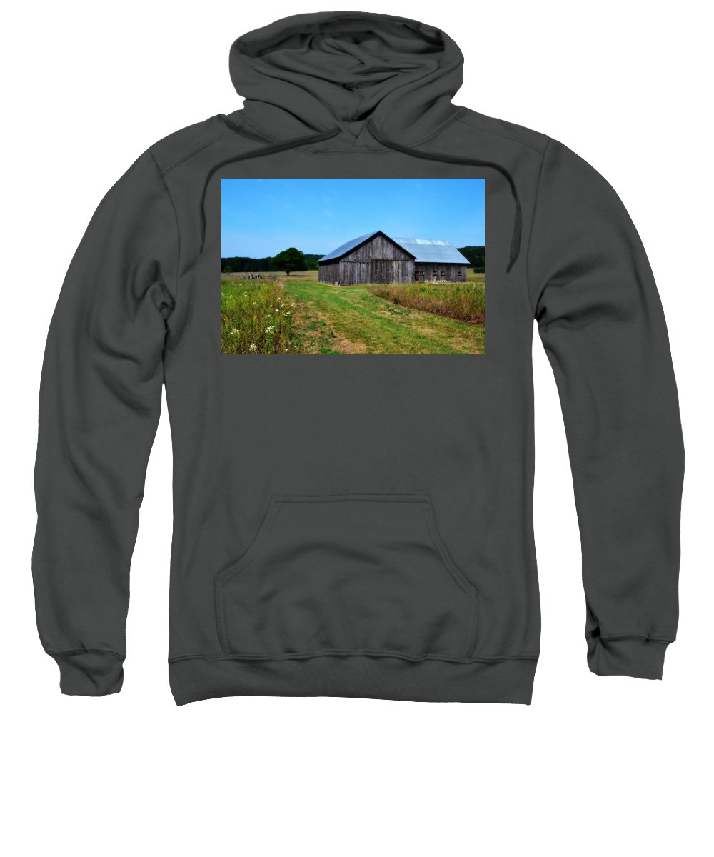 Barn Sweatshirt featuring the photograph Blue Skies by Michelle Calkins