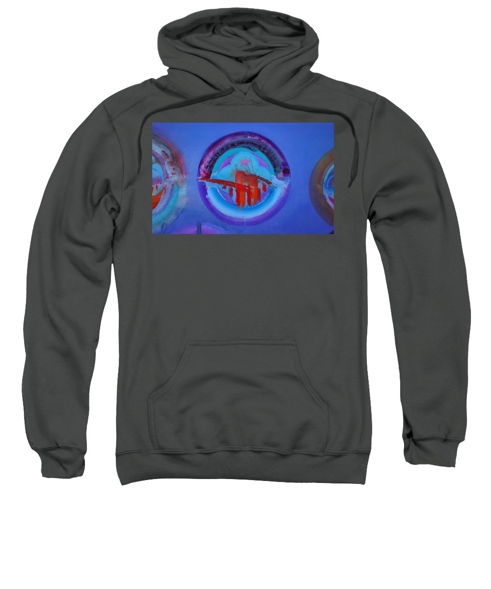 Texas Art Sweatshirt featuring the painting Blue Untitled Image by Charles Stuart