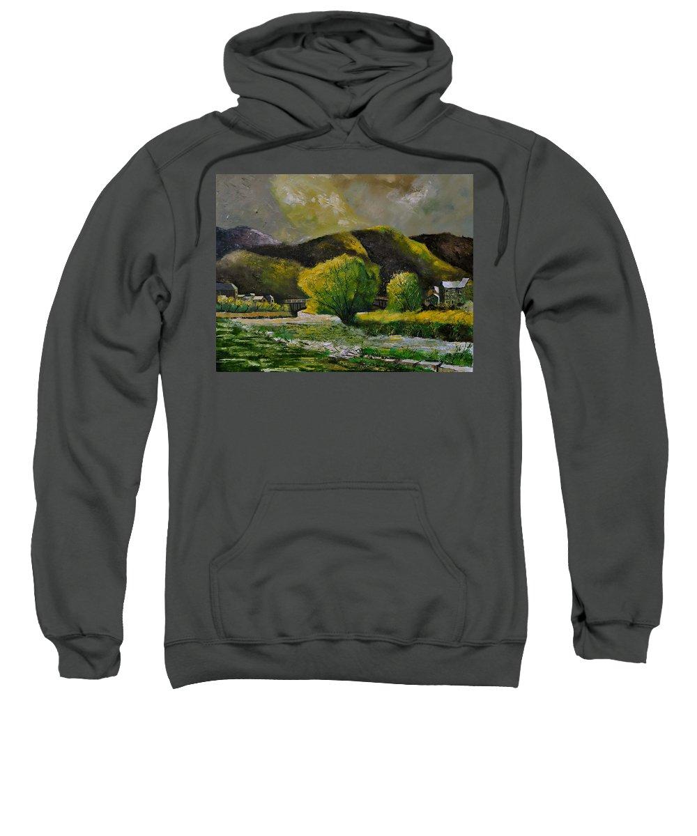 Landscape Sweatshirt featuring the painting Bohan by Pol Ledent