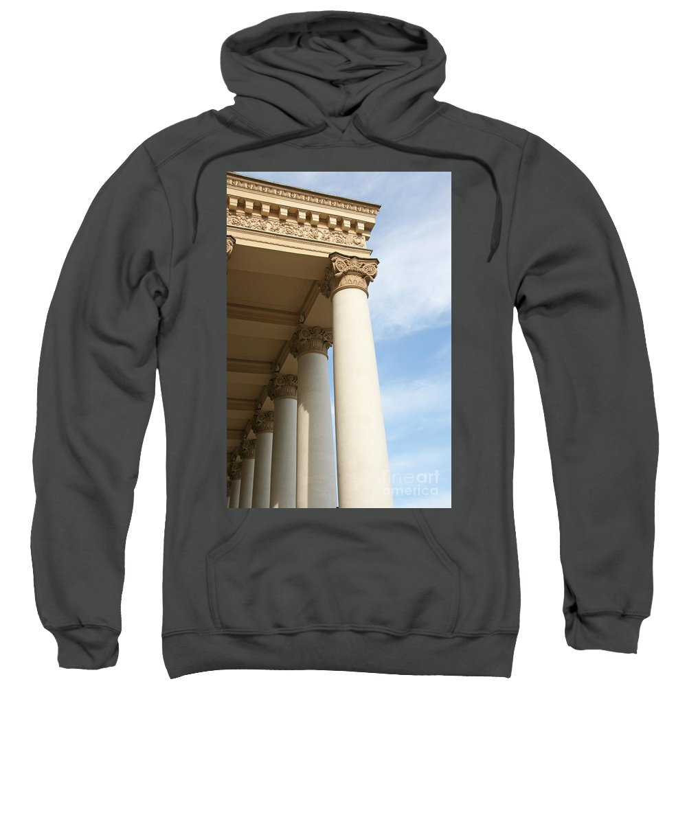 Column Sweatshirt featuring the photograph Bolshoi Theatre In Moscow by Lali Kacharava