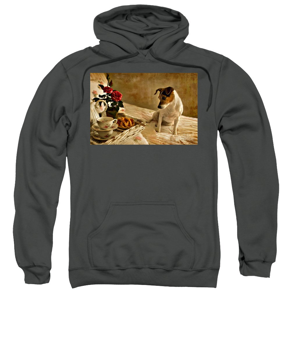 Sweatshirt featuring the photograph Bon Appetit by Jean Hildebrant