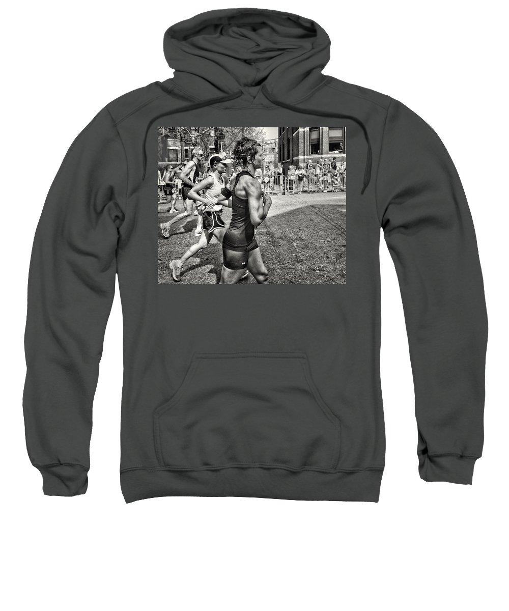 Boston Marathon Sweatshirt featuring the photograph Boston Marathon 2012 by Paul Schreiber