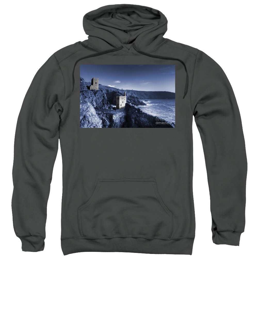 Bottallack Sweatshirt featuring the photograph Bottallack In Blue by Rob Hawkins