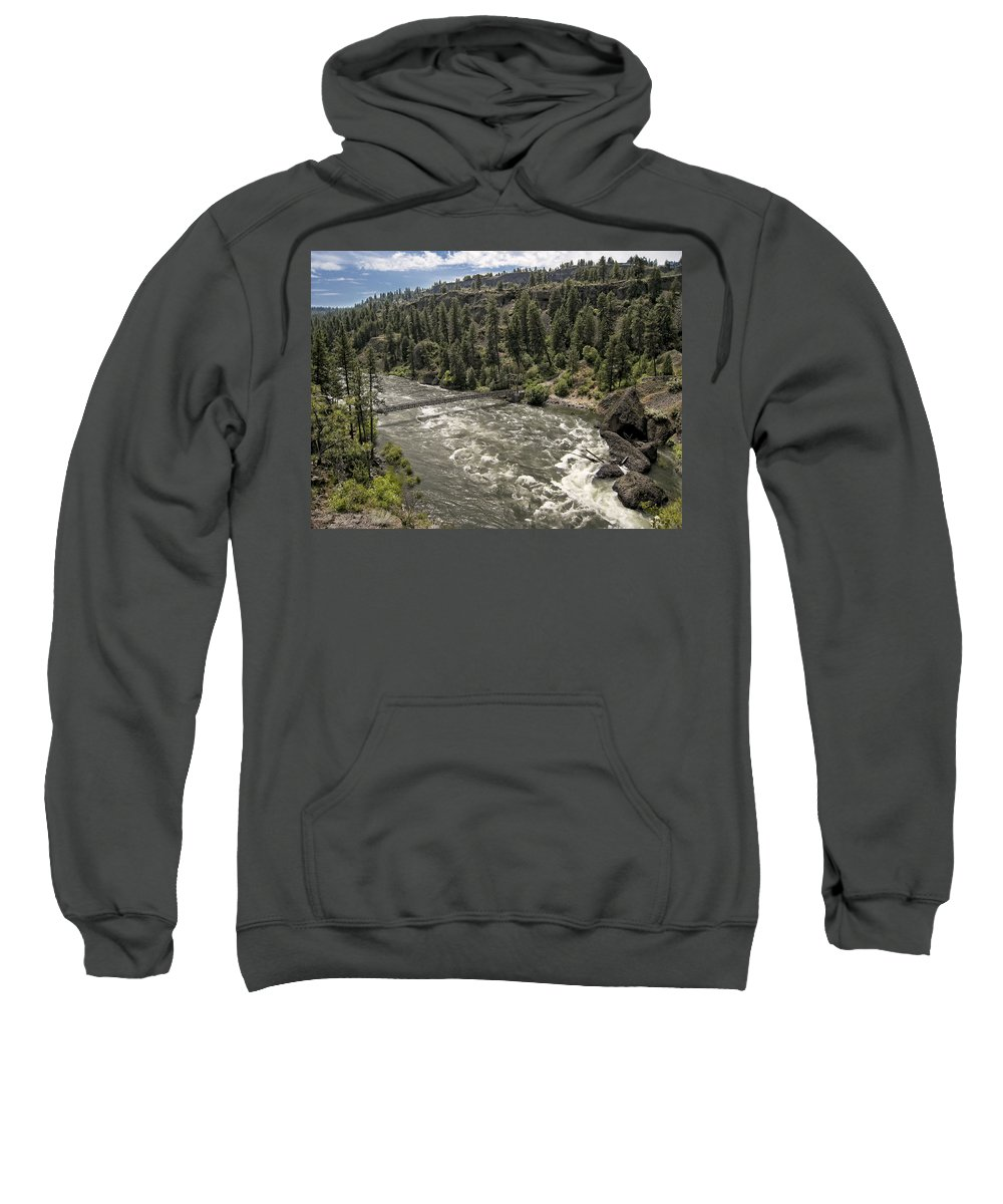 riverside State Park Sweatshirt featuring the photograph Bowl And Pitcher Area - Riverside State Park - Spokane Washington by Daniel Hagerman