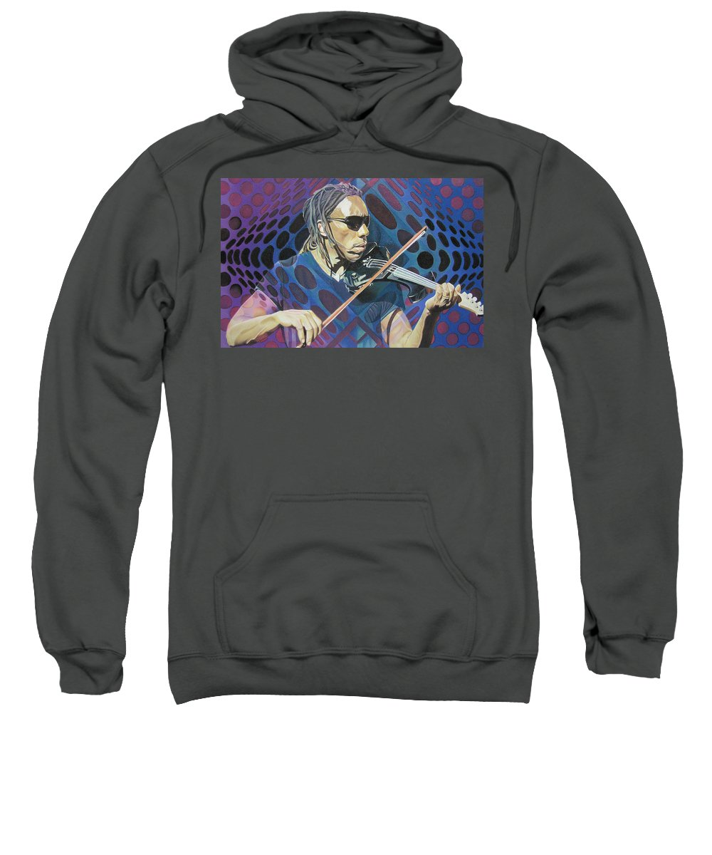 Boyd Tinsley Sweatshirt featuring the drawing Boyd Tinsley-op Art Series by Joshua Morton