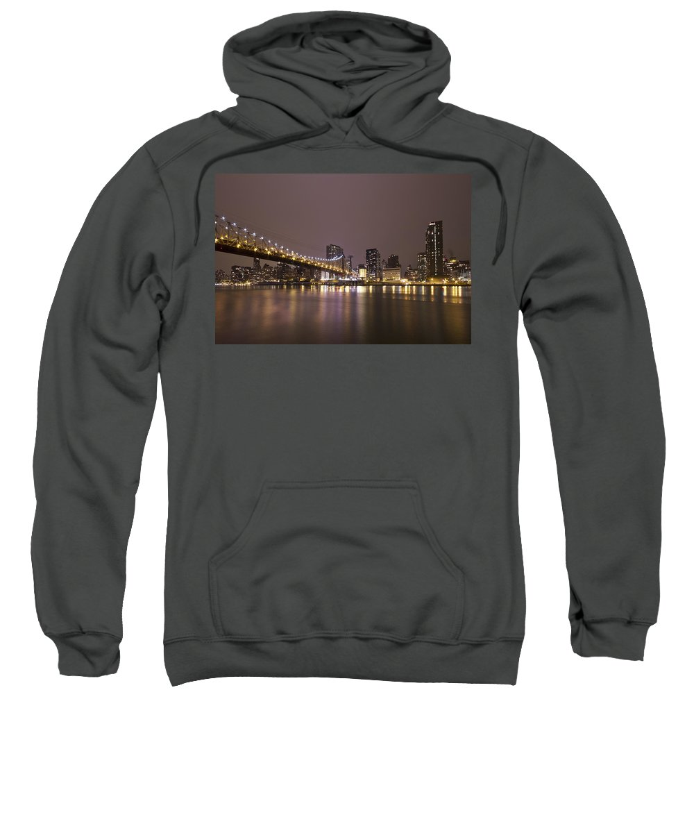 Queensboro Sweatshirt featuring the photograph Breathing The Night Away by Evelina Kremsdorf