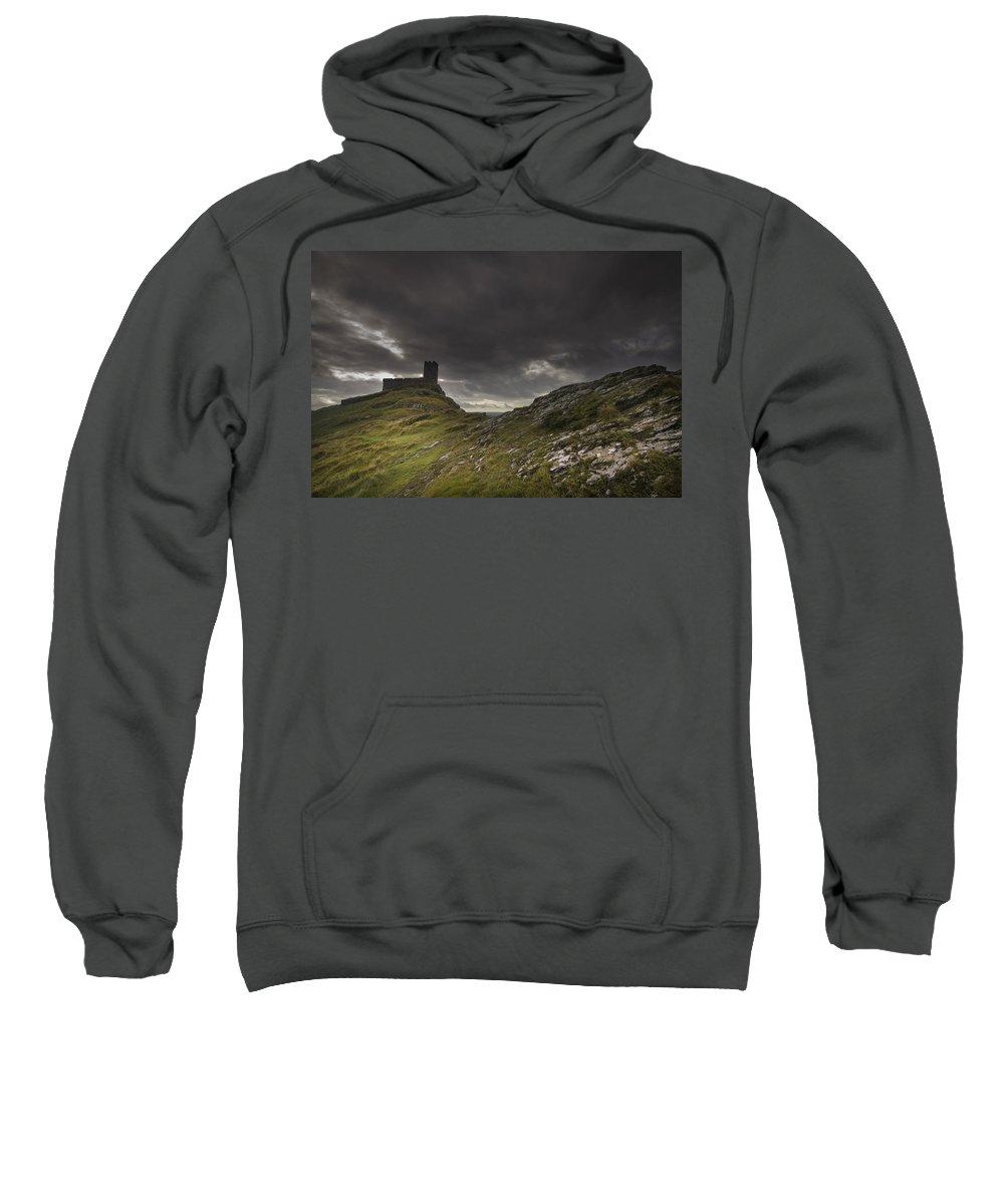 Chapel Sweatshirt featuring the photograph Brentor Church Dartmoor Devon Uk by Chris Smith