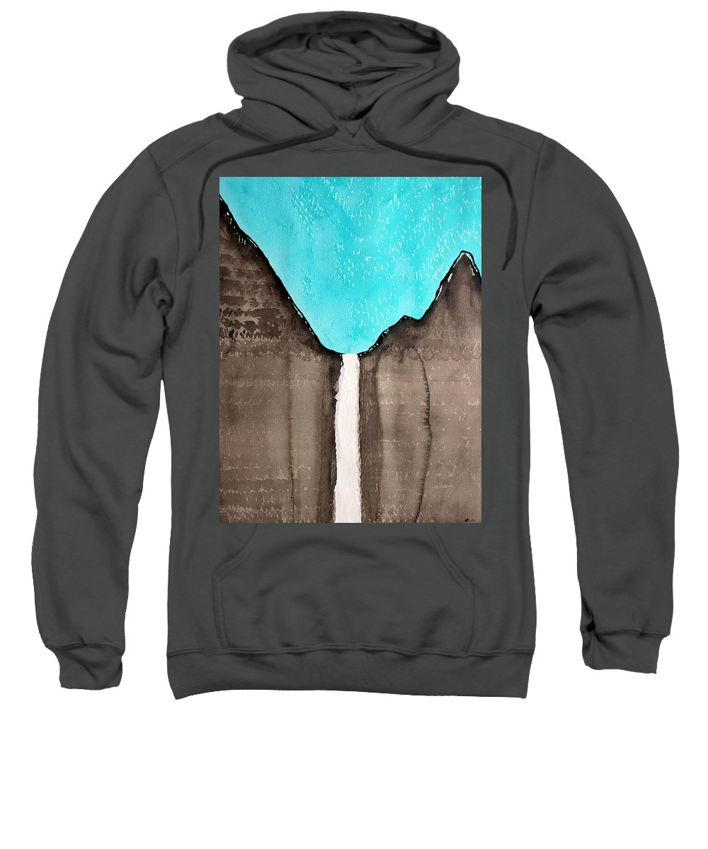 Water Sweatshirt featuring the painting Bridalveil Fall Original Painting Sold by Sol Luckman