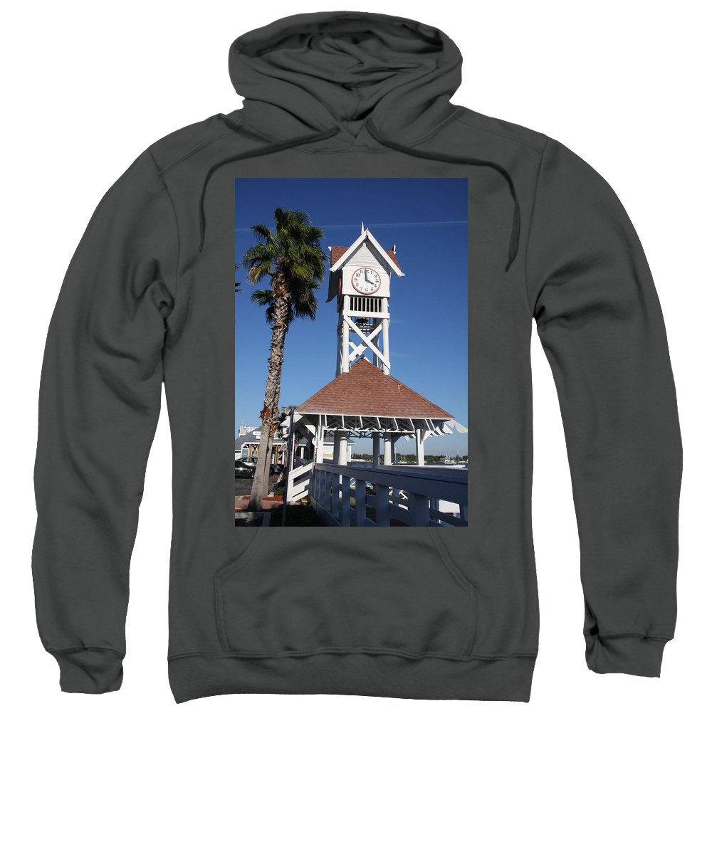 Pier Sweatshirt featuring the photograph Bridge Street Pier And Clocktower by Christiane Schulze Art And Photography