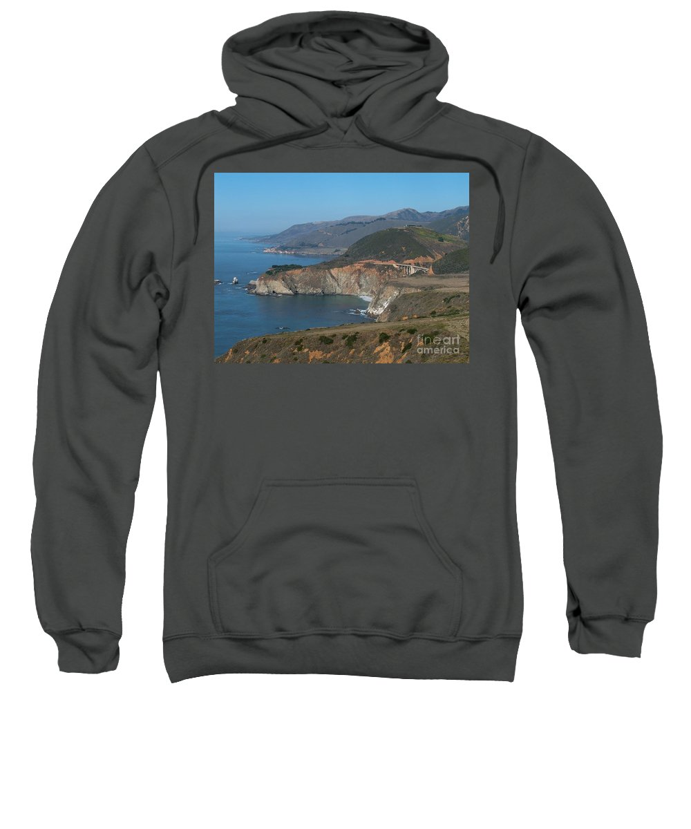 Landscape Sweatshirt featuring the photograph Bridge With A View by Jeffery L Bowers