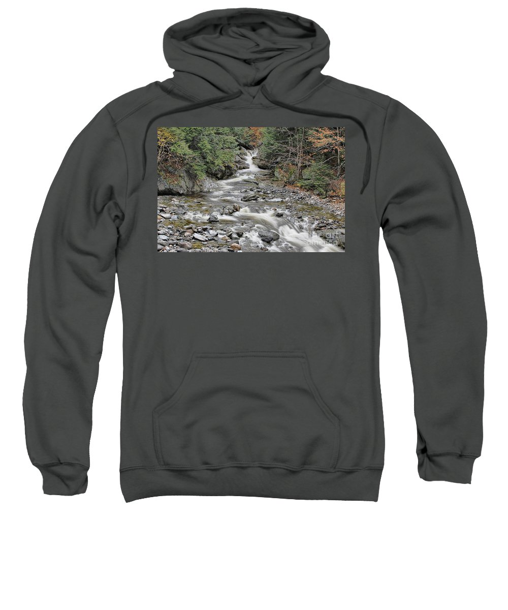Brook Sweatshirt featuring the photograph Brook In October by Deborah Benoit