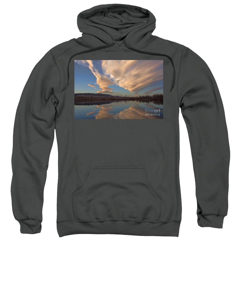 Chatfield Park Sweatshirt featuring the photograph Broomtail Sky by Jim Garrison