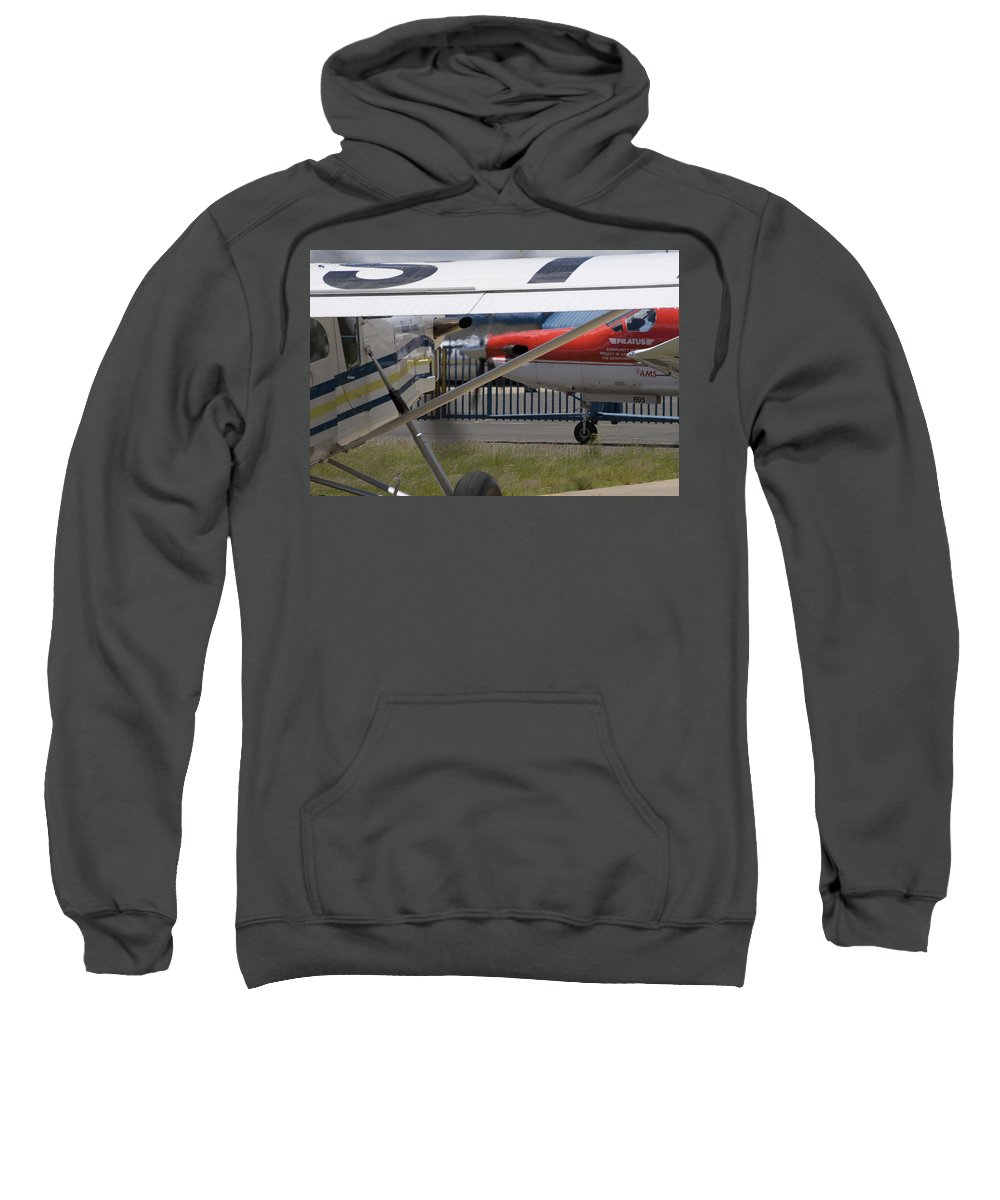 Pilatus Pc 12 Sweatshirt featuring the photograph Brother And Sister by Paul Job