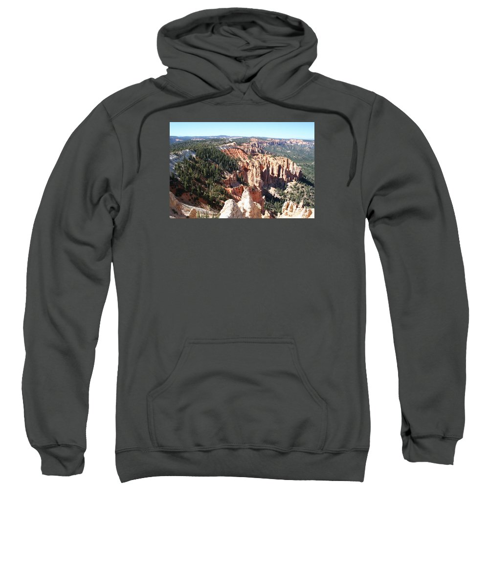 Canyon Sweatshirt featuring the photograph Bryce Canyon Hoodoos Landscape by Christiane Schulze Art And Photography