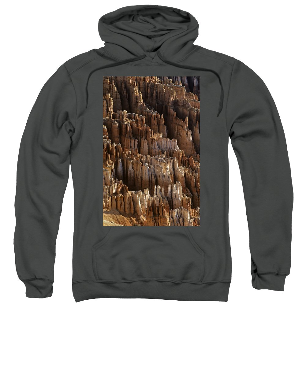 Landscape Sweatshirt featuring the photograph Bryce Canyon National Park Hoodo Monoliths Sunrise From Inspirat by Jim Corwin