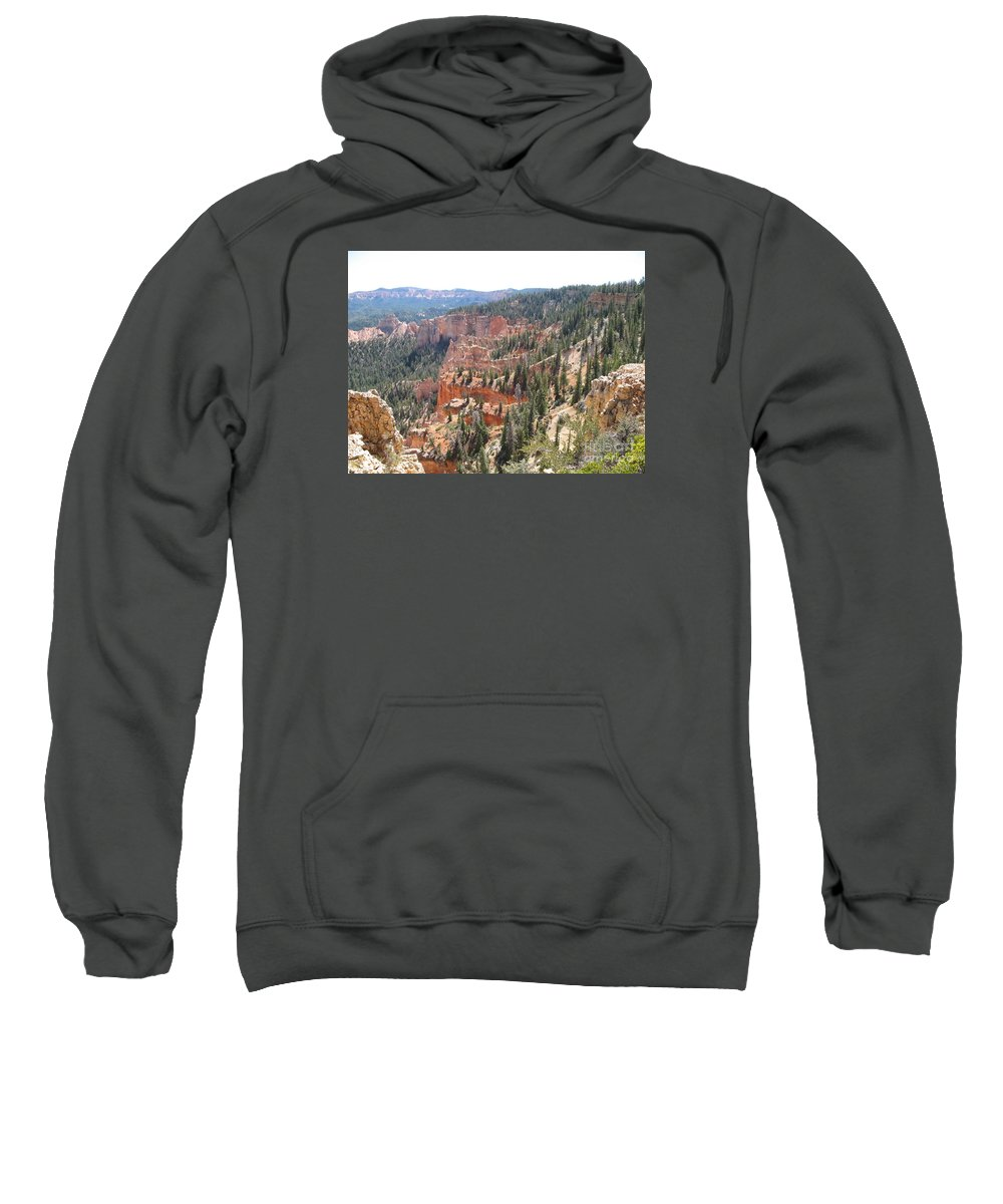 Rocks Sweatshirt featuring the photograph Bryce Canyon View by Christiane Schulze Art And Photography