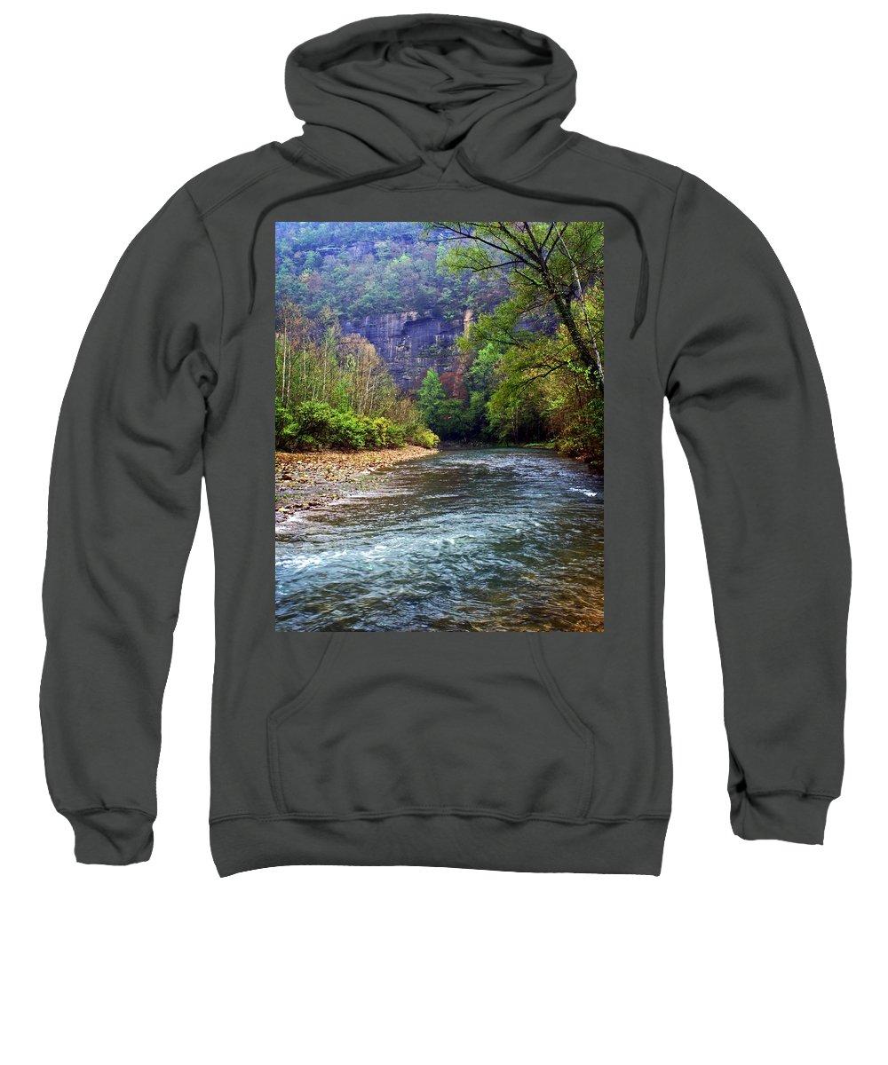 Buffalo National River Sweatshirt featuring the photograph Buffalo River Downstream by Marty Koch