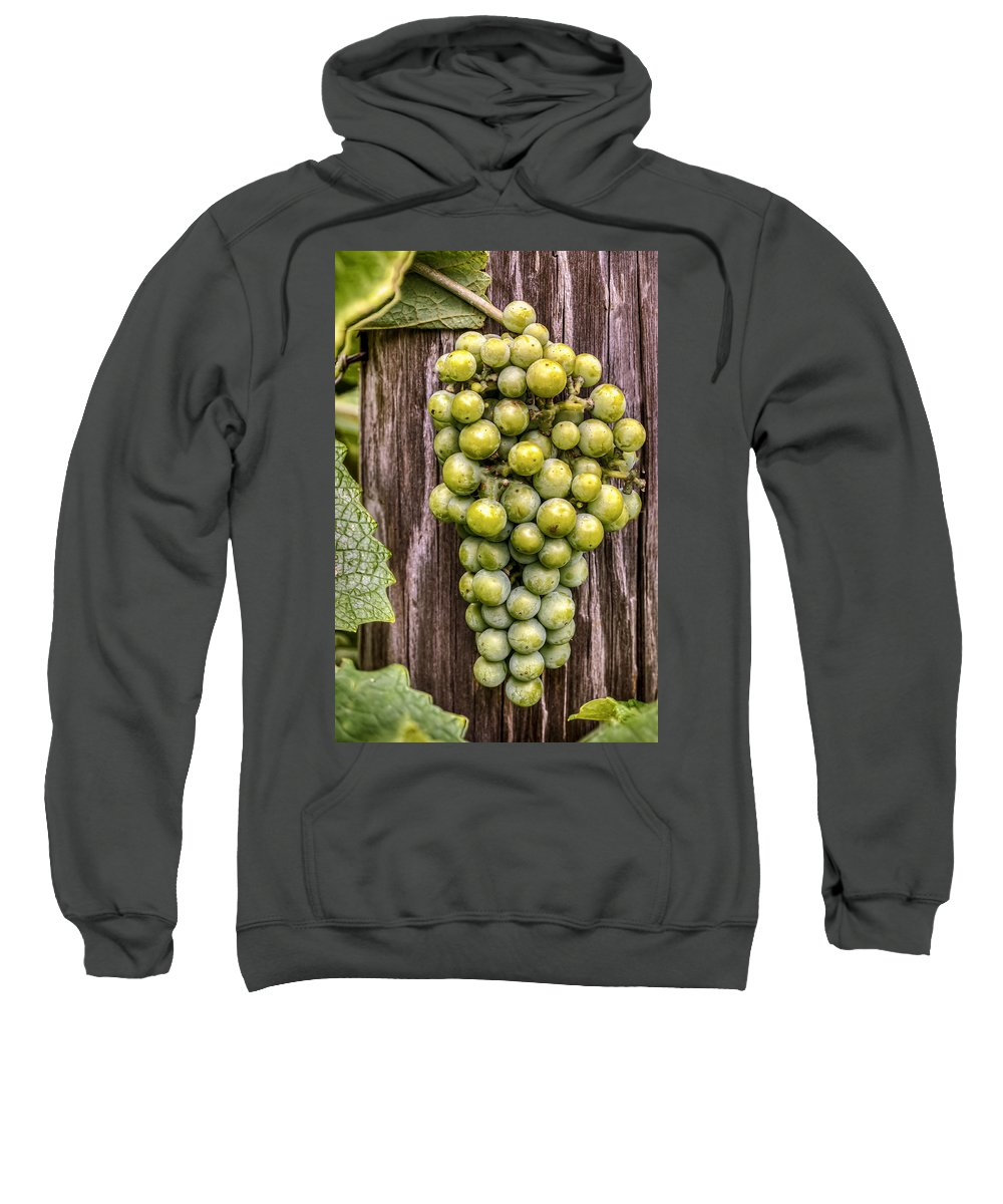 Grapes Sweatshirt featuring the photograph Bunch Of Grapes by Jerry Gammon