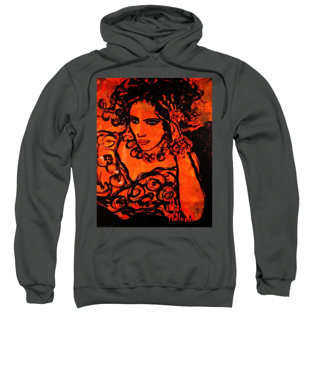 Burning Desire Sweatshirt featuring the painting Burning Desire by Natalie Holland