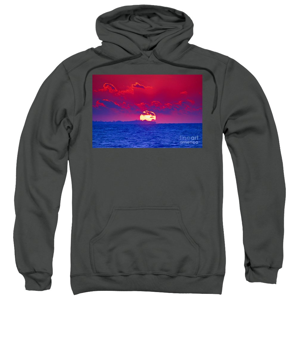 Sun Sweatshirt featuring the photograph Burning Down The House by Joe Geraci