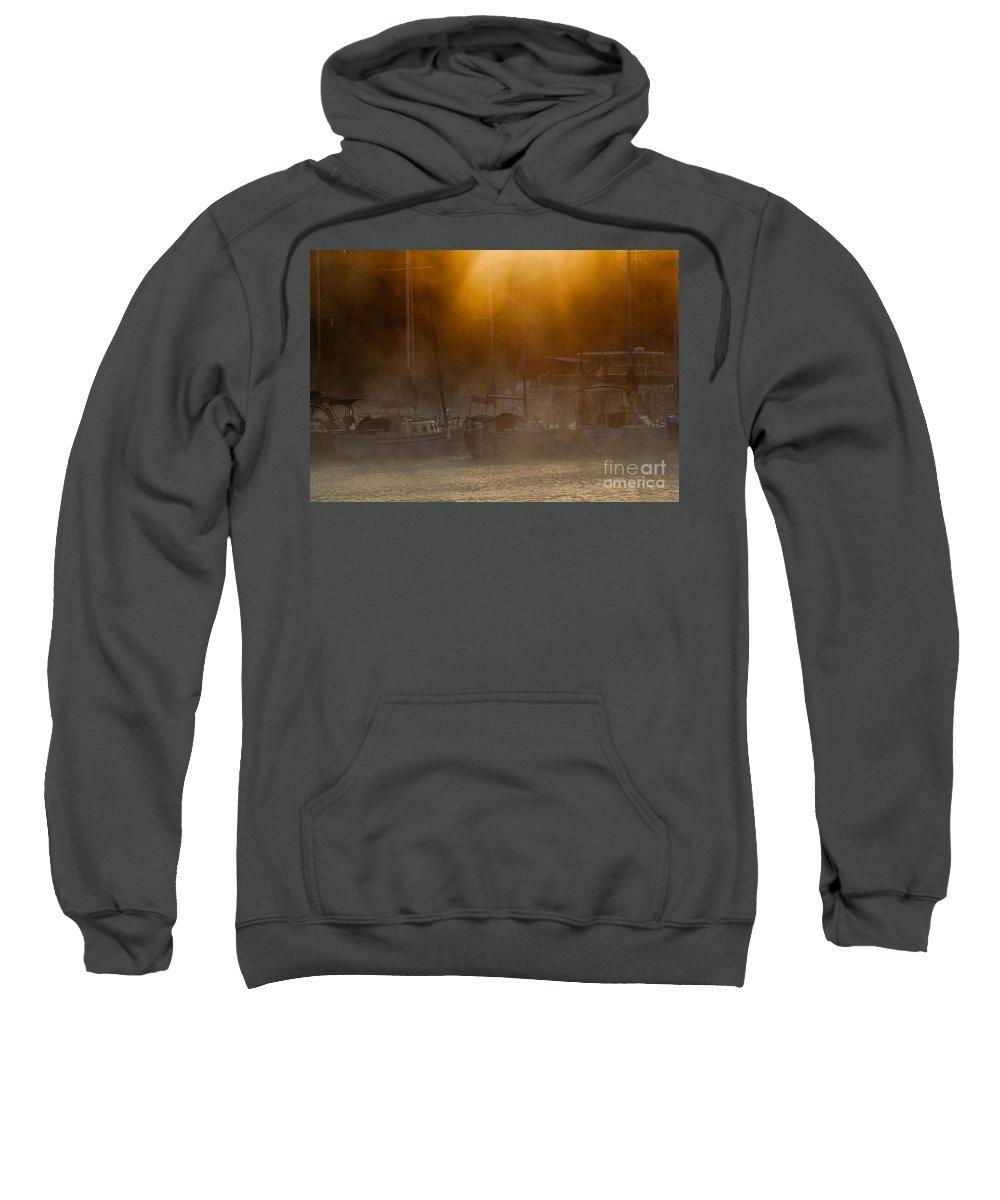 Cherokee Sweatshirt featuring the photograph Burning Through The Fog by Douglas Stucky