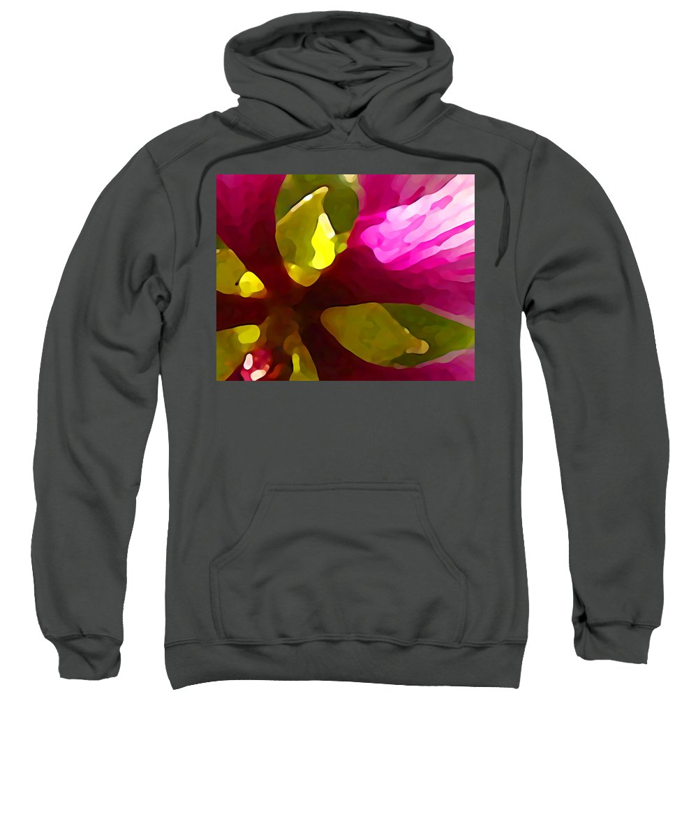 Contemporary Sweatshirt featuring the painting Burst Of Spring by Amy Vangsgard