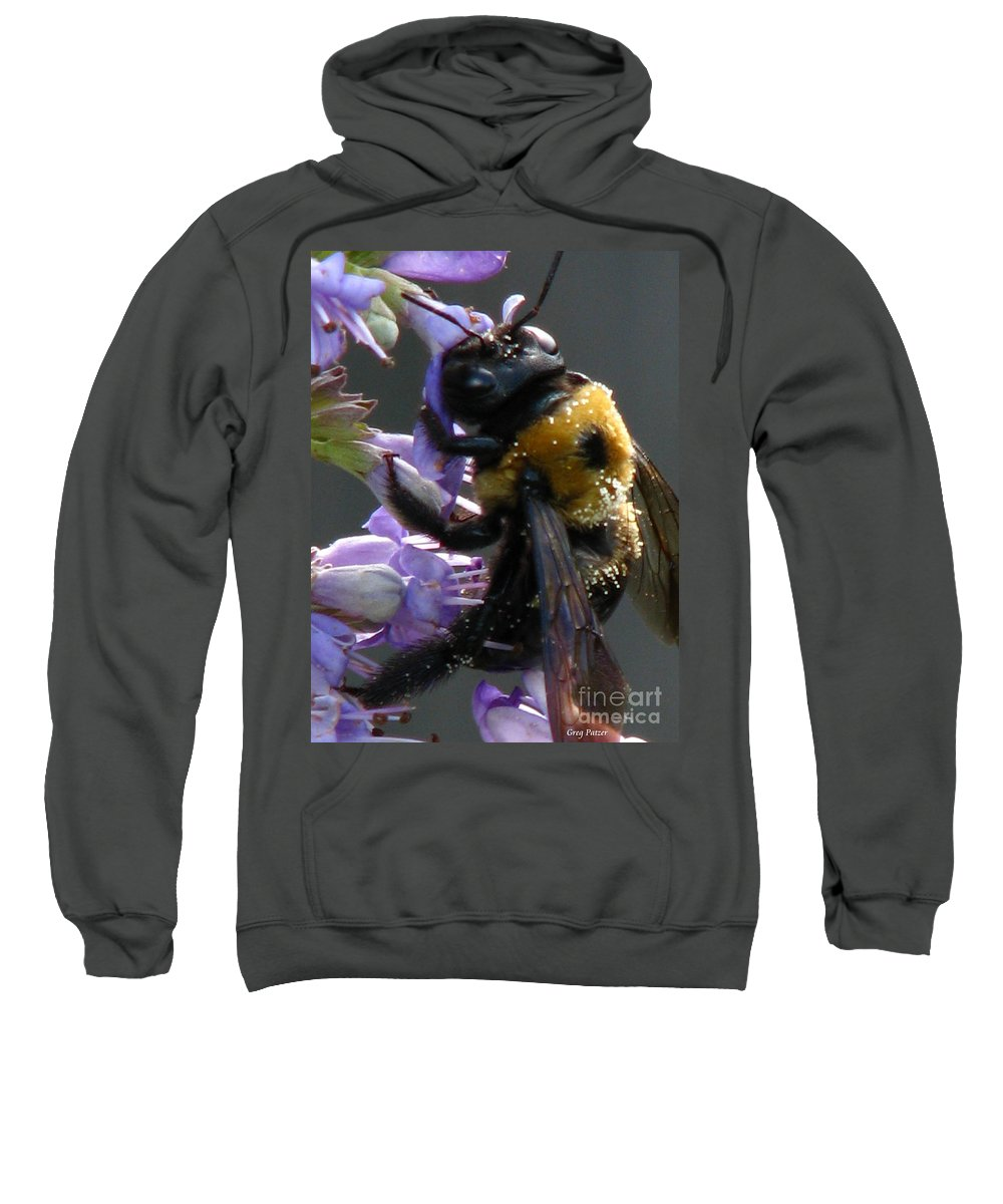 Patzer Sweatshirt featuring the photograph Busy Bee by Greg Patzer