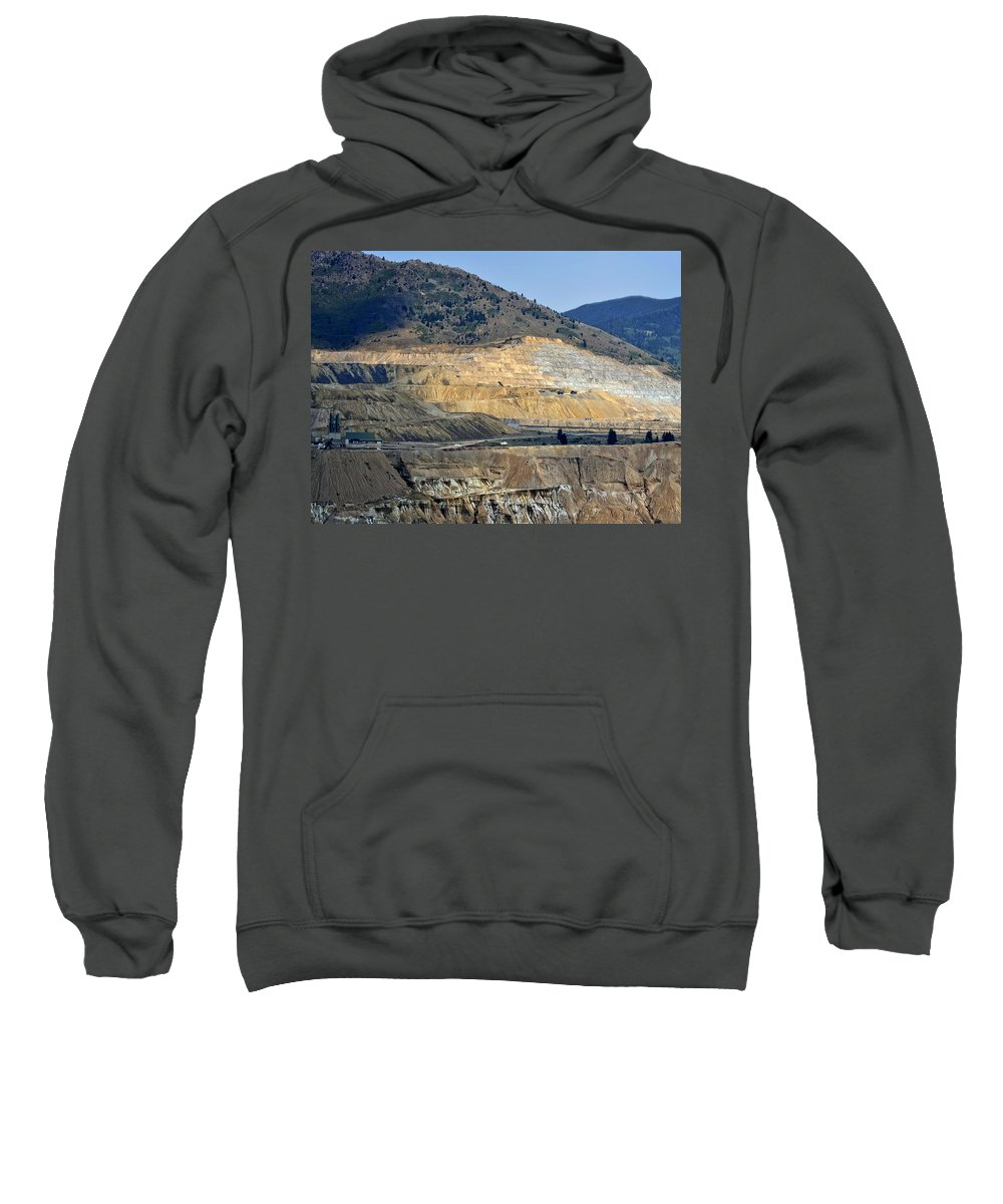 Butte Sweatshirt featuring the photograph Butte Berkeley Pit Mine by Image Takers Photography LLC - Carol Haddon