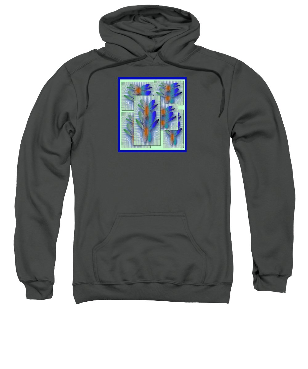 Butterflies Sweatshirt featuring the digital art Butterflies 2 by Iris Gelbart