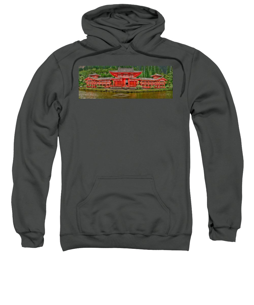 Bydo-in Temple Sweatshirt featuring the photograph Bydo-in Temple 2 by Richard J Cassato