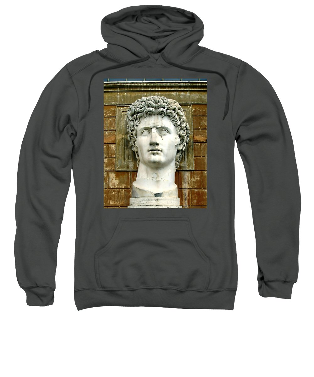 Caesar Augustus Sweatshirt featuring the photograph Caesar Augustus by Ellen Henneke