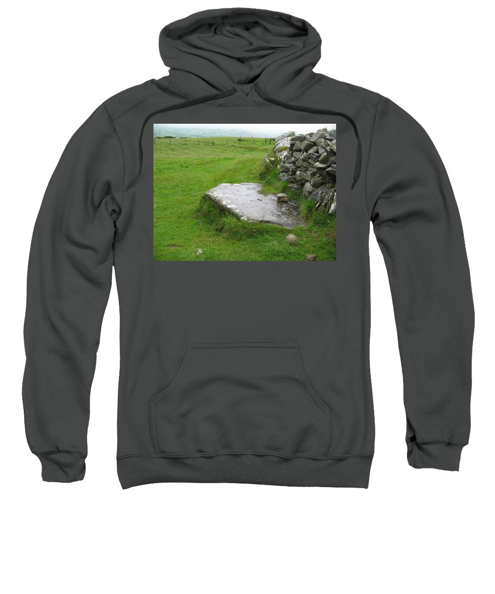 Loughcrew Sweatshirt featuring the photograph Cairn T At Loughcrew by Denise Mazzocco