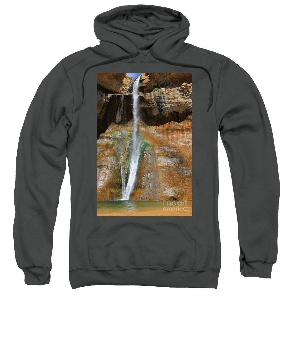 Utah Sweatshirt featuring the photograph Calf Creek Falls 2 by Tonya Hance