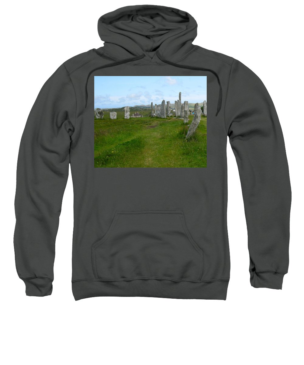 Callanish Inner Circle Sweatshirt featuring the photograph Callanish Looking North by Denise Mazzocco