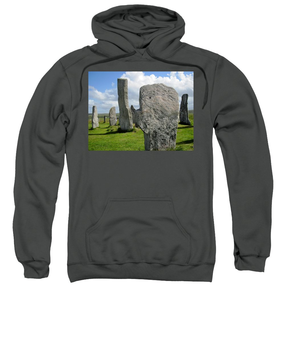 Callanish Inner Circle Sweatshirt featuring the photograph Callanish Looking Northeast by Denise Mazzocco