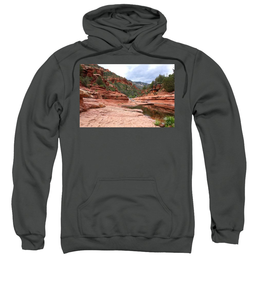 Slide Rock Sweatshirt featuring the photograph Calm Day At Slide Rock by Carol Groenen