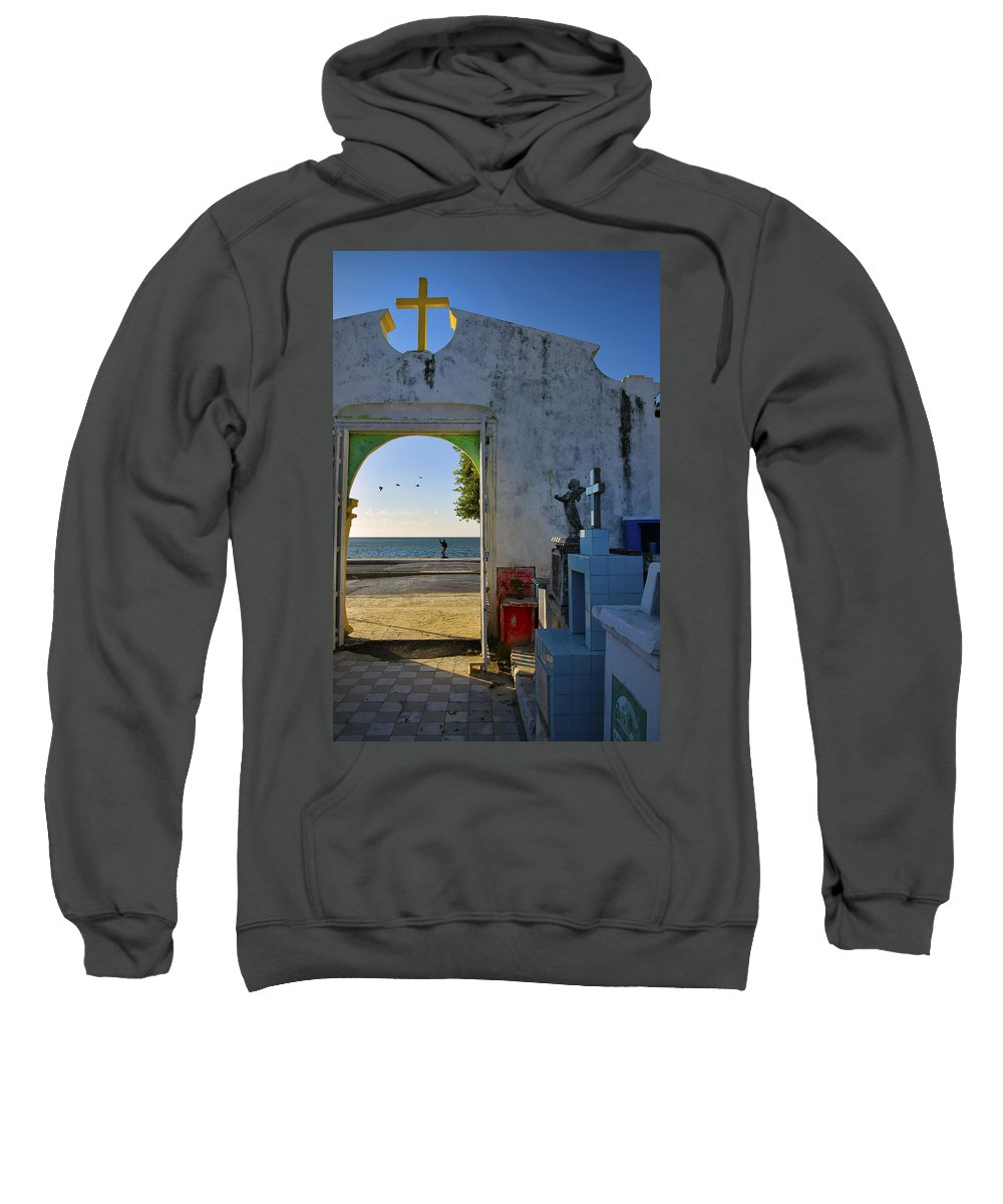 Campeche Malecon Sweatshirt featuring the photograph Campeche Malecon by Skip Hunt