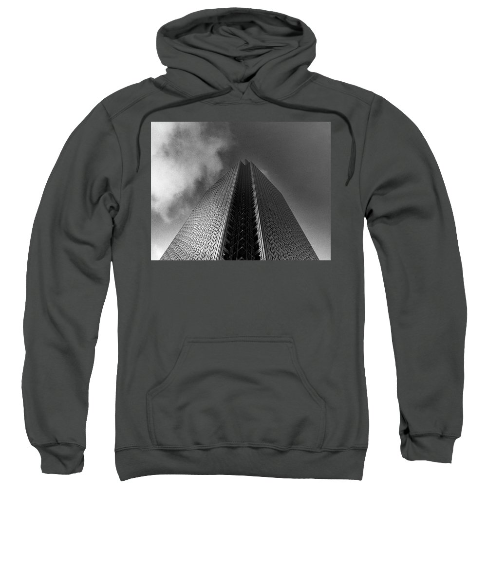 Canary Wharf Sweatshirt featuring the photograph Canary Wharf London 3 by David Rives