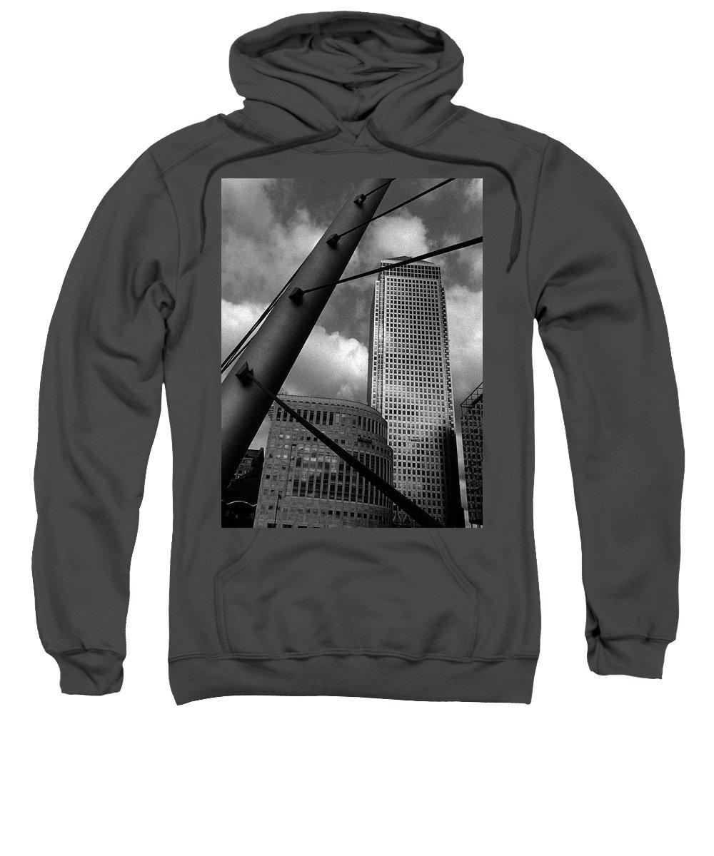 Canary Wharf Sweatshirt featuring the photograph Canary Wharf London by David Rives