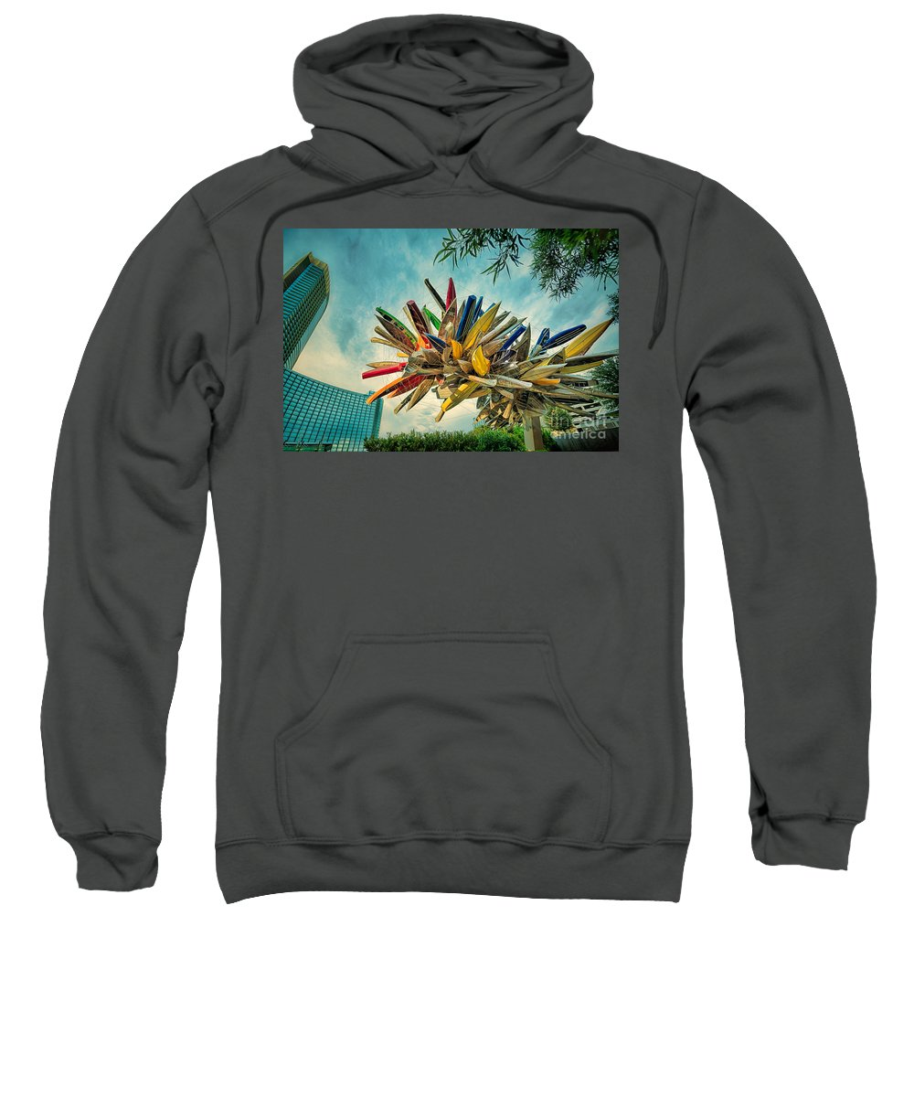 Sculpture Sweatshirt featuring the photograph Canoe Art by Doug Sturgess