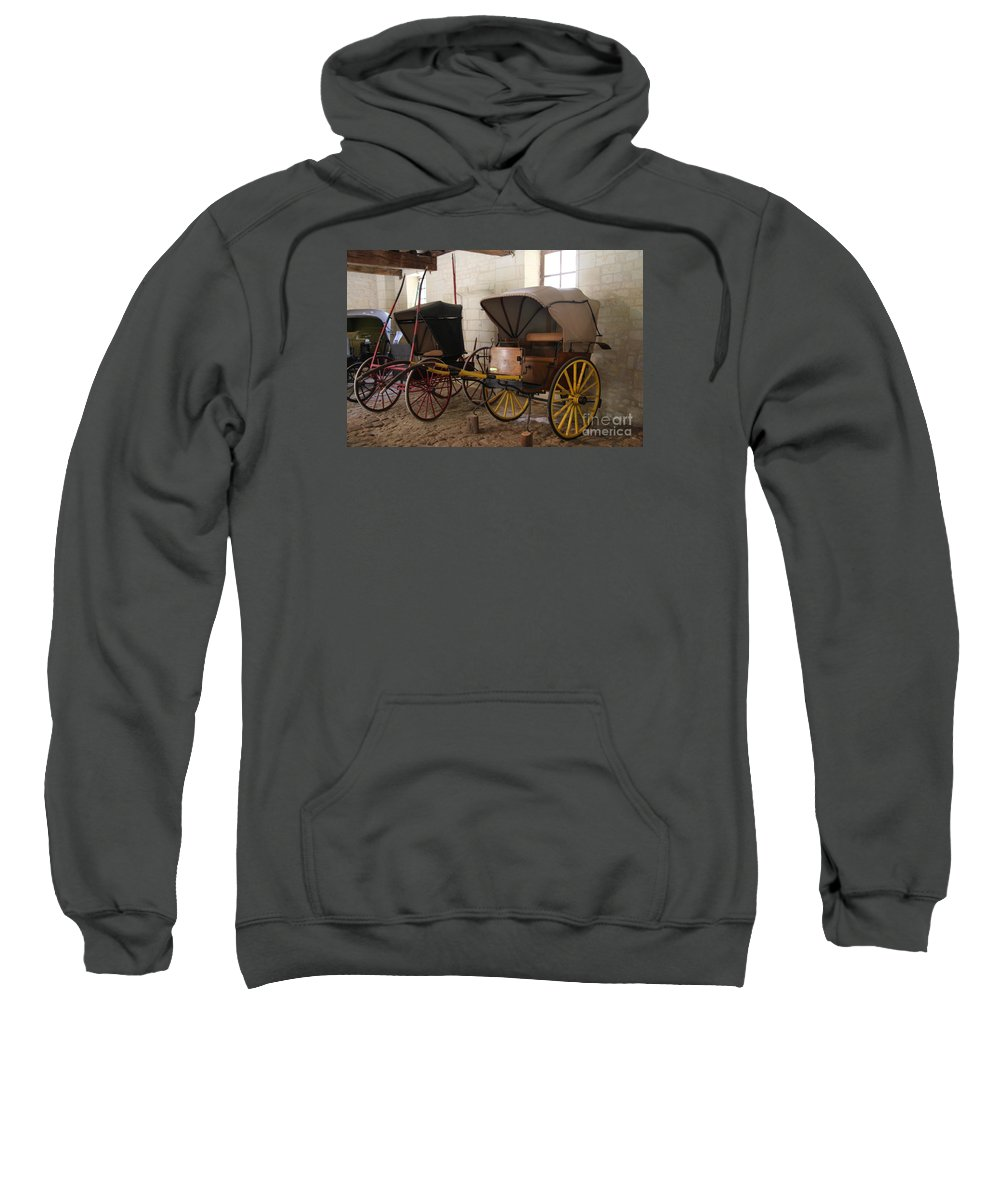 Carriage Sweatshirt featuring the photograph Carriage - Chateau Usse by Christiane Schulze Art And Photography