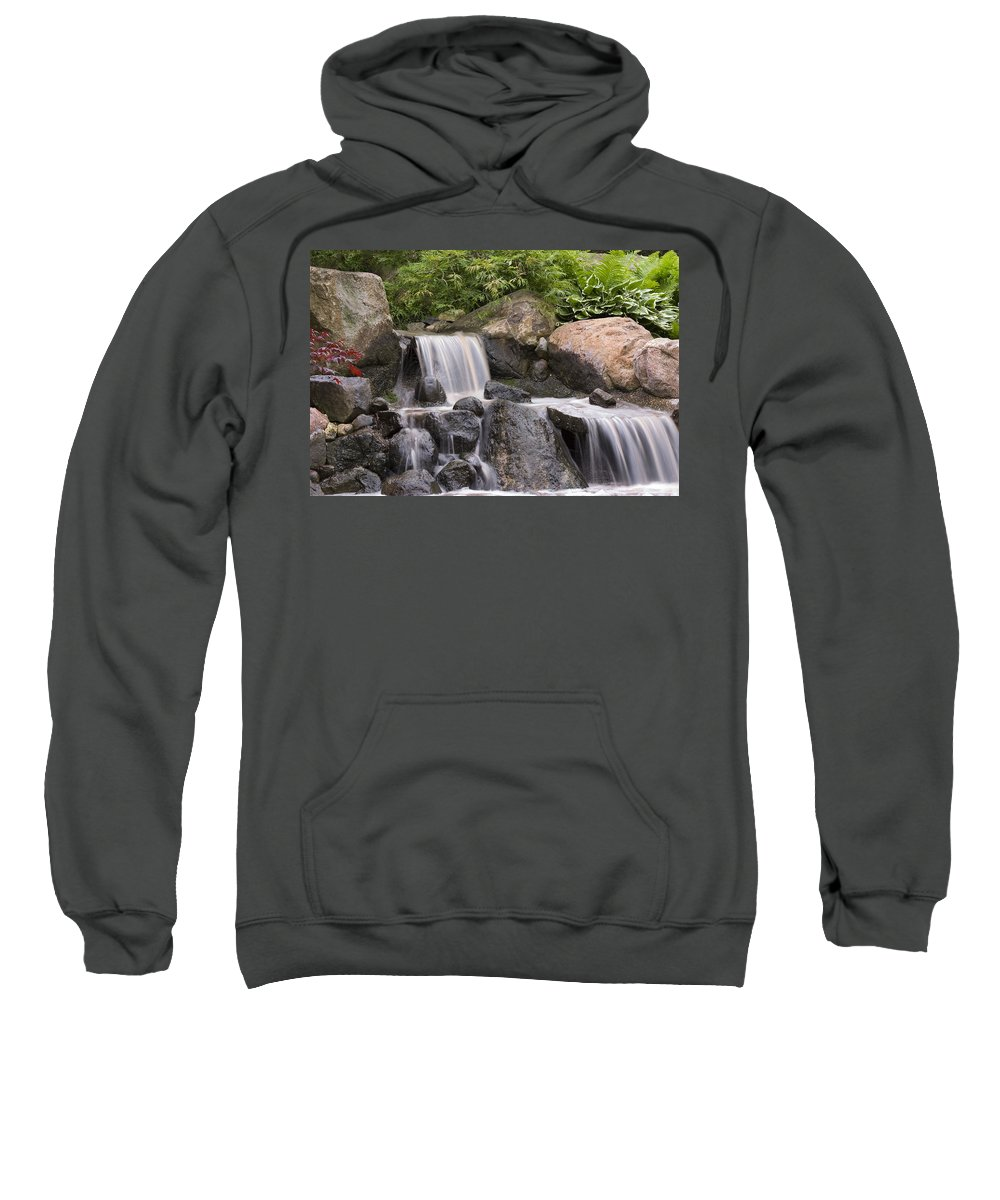 3scape Sweatshirt featuring the photograph Cascade Waterfall by Adam Romanowicz
