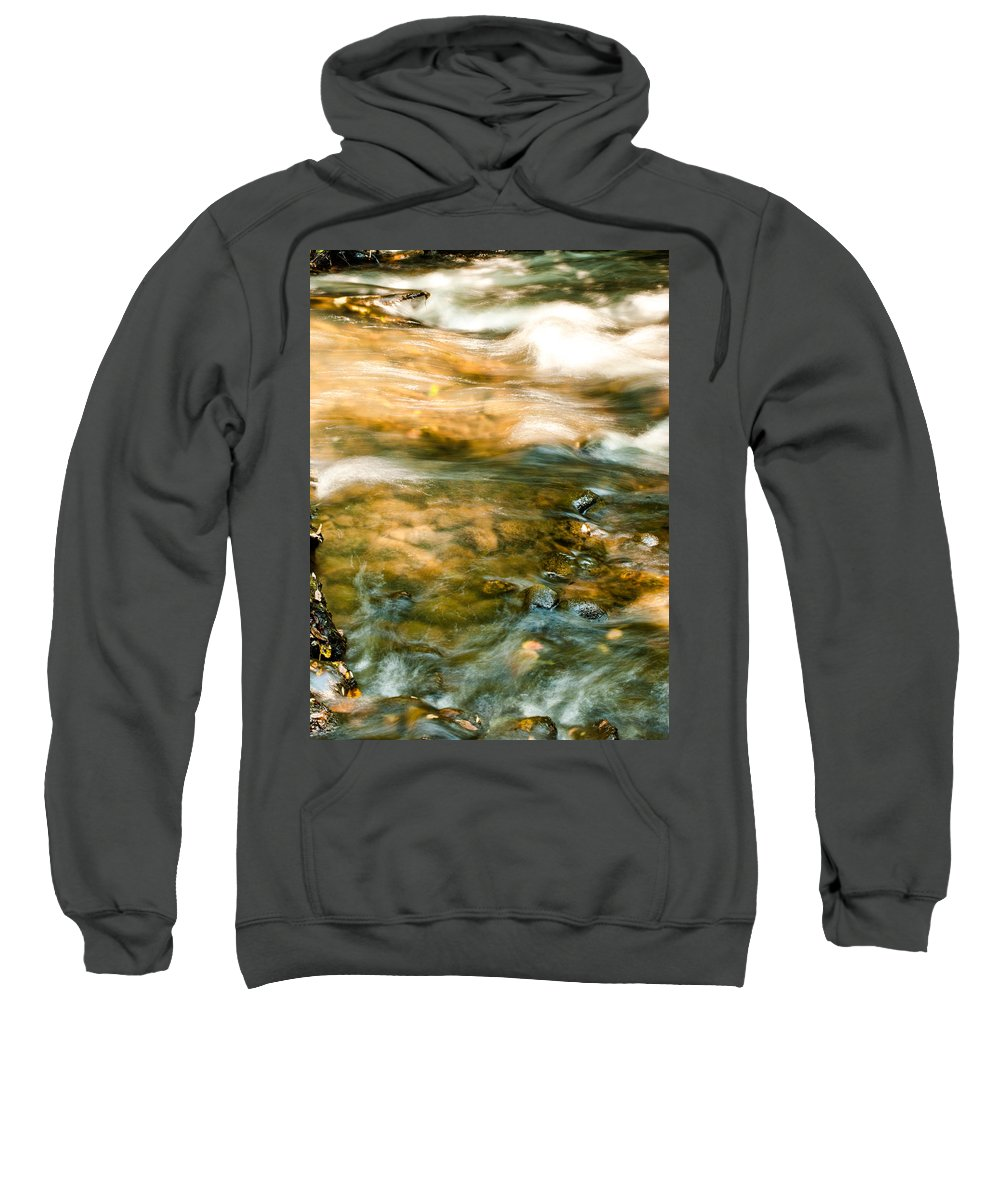 Optical Playground By Mp Ray Sweatshirt featuring the photograph Cascading Waters by Optical Playground By MP Ray