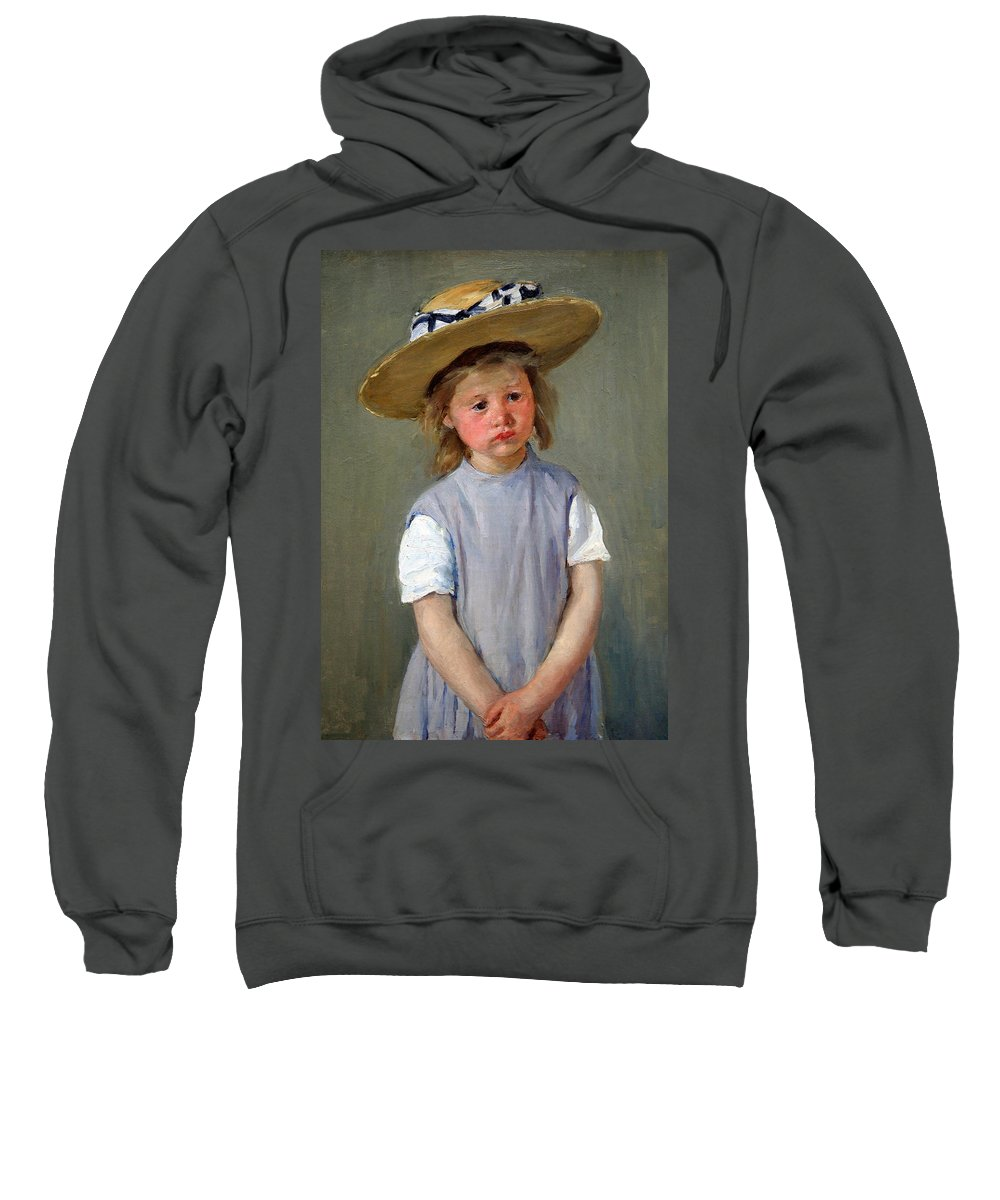Child In A Straw Hat Sweatshirt featuring the photograph Cassatt's Child In A Straw Hat by Cora Wandel