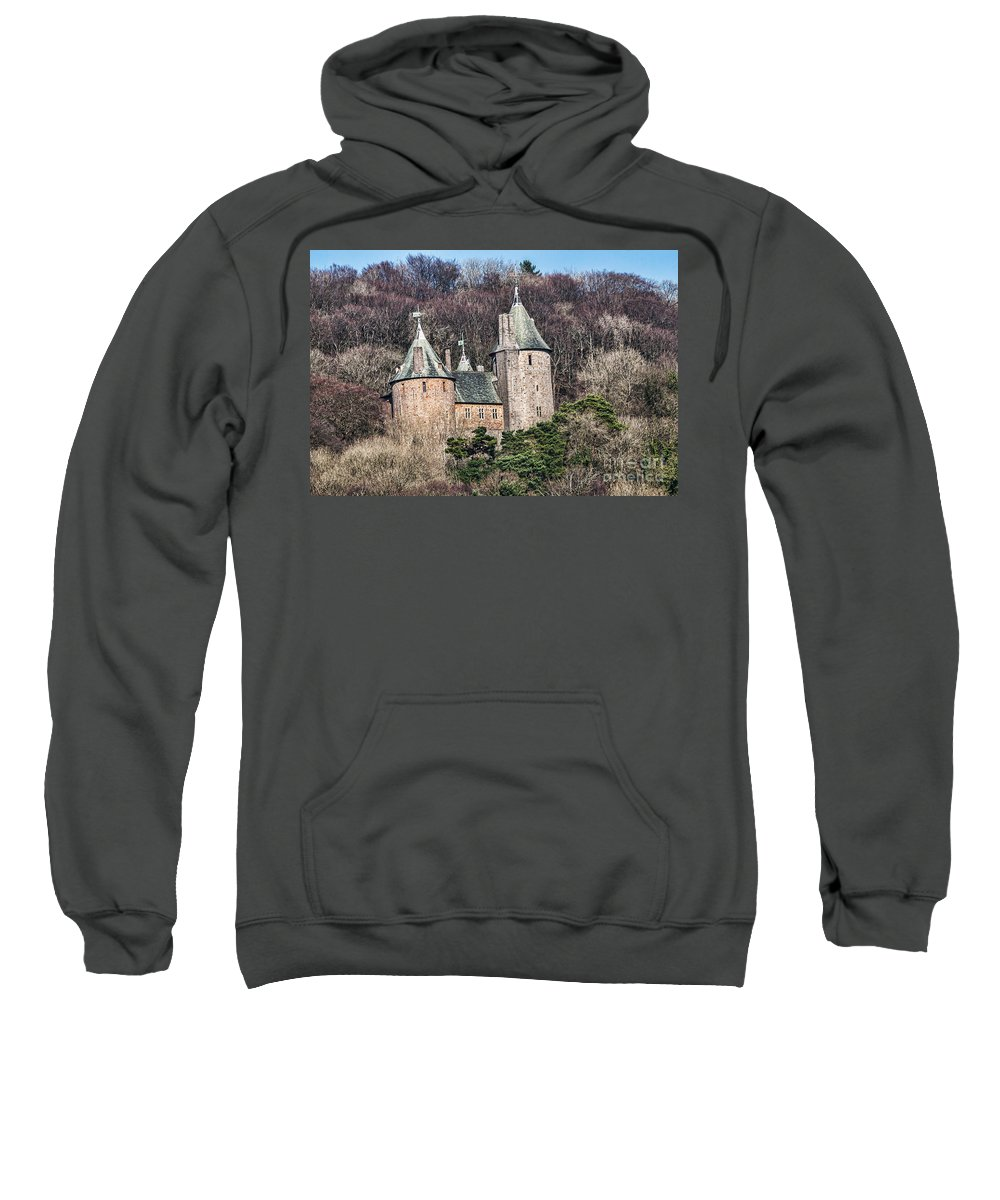 Castell Coch Sweatshirt featuring the photograph Castell Coch by Steve Purnell