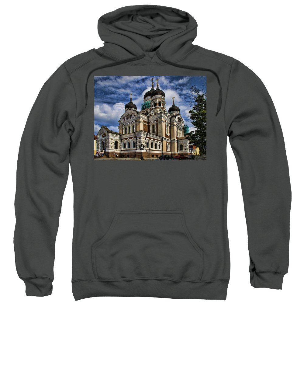 City Sweatshirt featuring the photograph Cathedral In Tallinn by David Smith