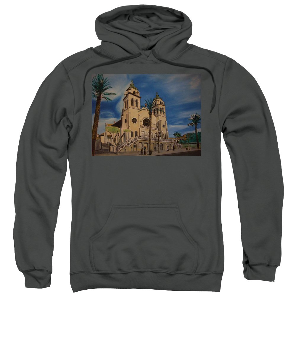 Sweatshirt featuring the painting Cathedral by Jude Darrien