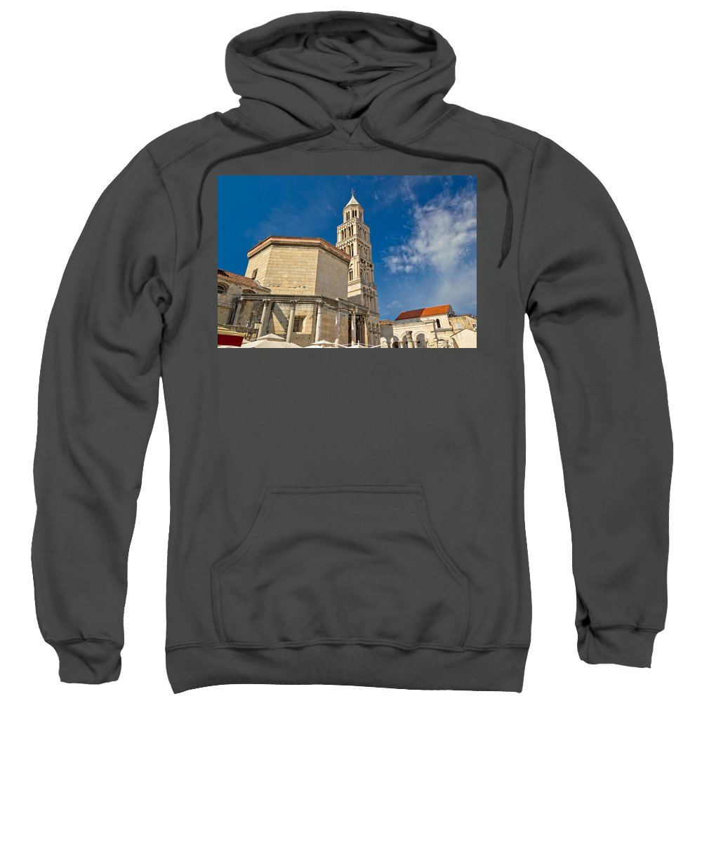Split Sweatshirt featuring the photograph Cathedral Of Split Diocletian Palace by Brch Photography