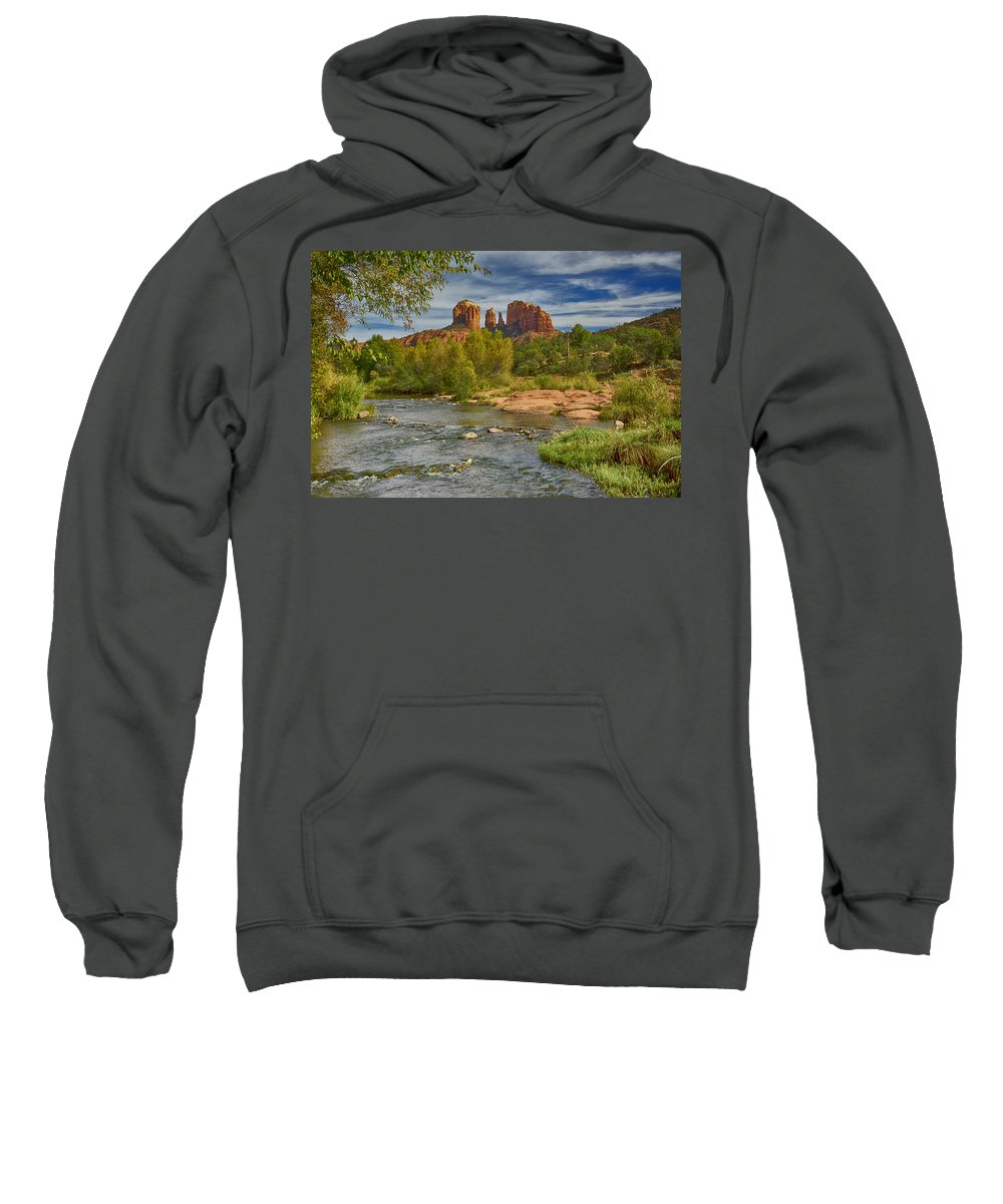 Cathedral Rock Sweatshirt featuring the photograph Cathedral Rock Sedona Az Dsc09018 by Greg Kluempers