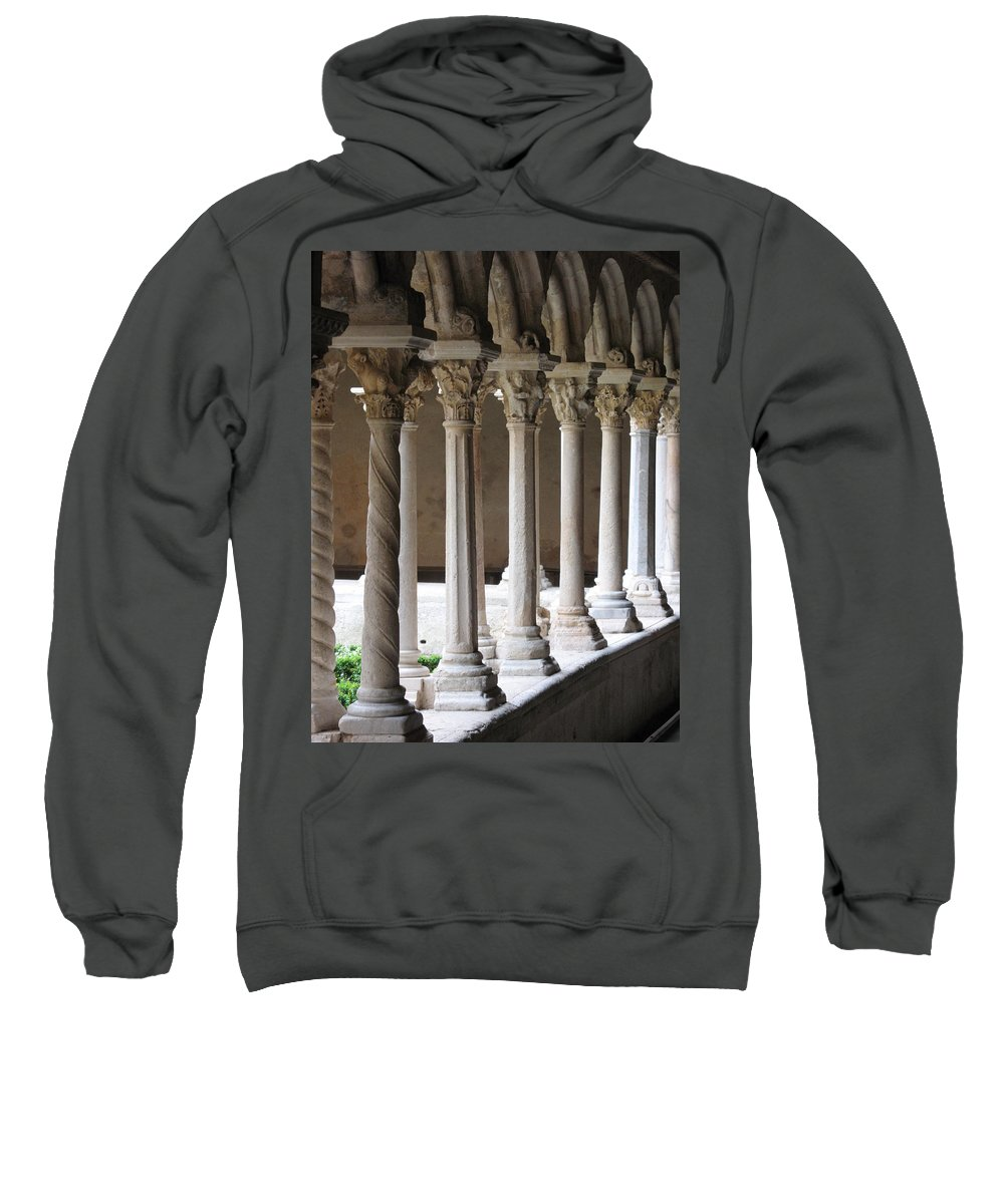 Croos Sweatshirt featuring the photograph Cathedral St Sauveur - Croos-coat by Christiane Schulze Art And Photography